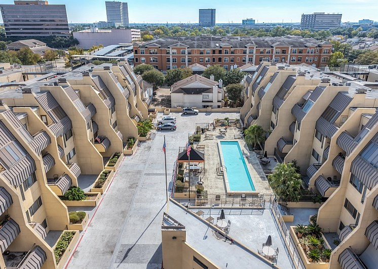 Aerial View Of The Community at Augusta Court Apartments, Houston, Texas