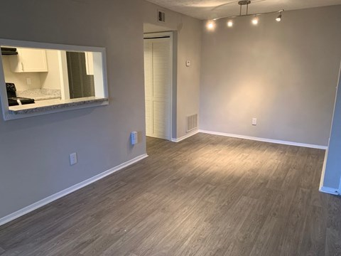 renovated living/dining room