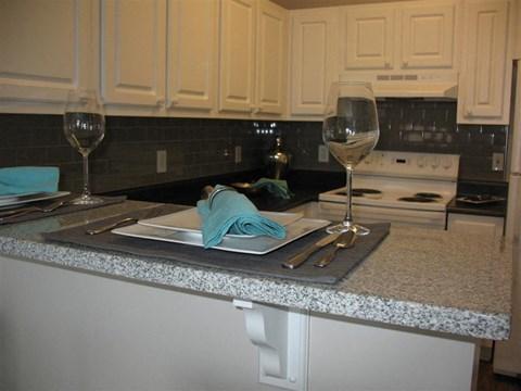 Model Kitchen Granite Counter Tops