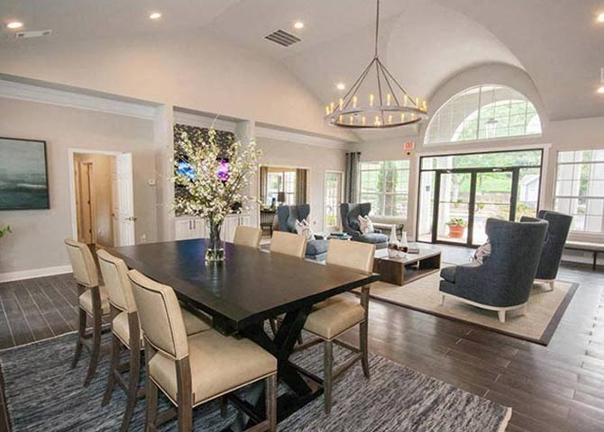 Living Room at Clubhouse at Lullwater at Calumet, Newnan, 30263
