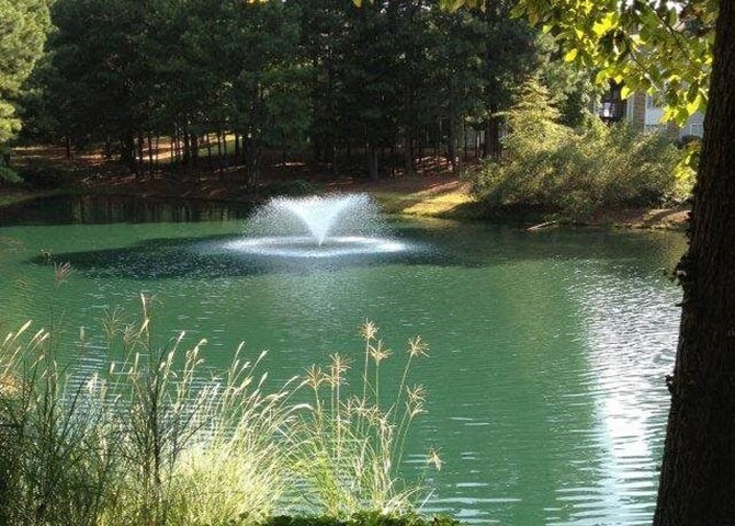 Sparking Lake Within Community at Lullwater at Calumet, Georgia