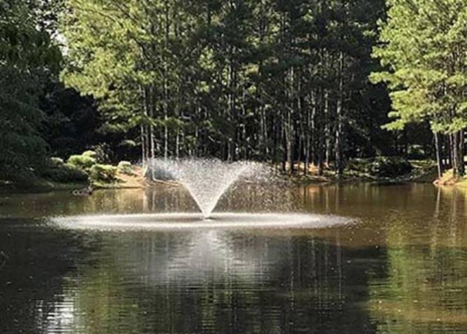 Beautiful Lake with Fountain at Lullwater at Calumet, Newnan, GA, 30263