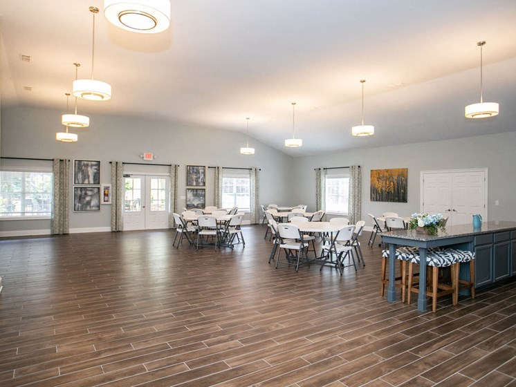 clubroom with dining tables