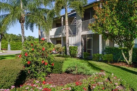 Timber Chase at Sarasota Bay Sarasota Florida Sunny Flowers and Building