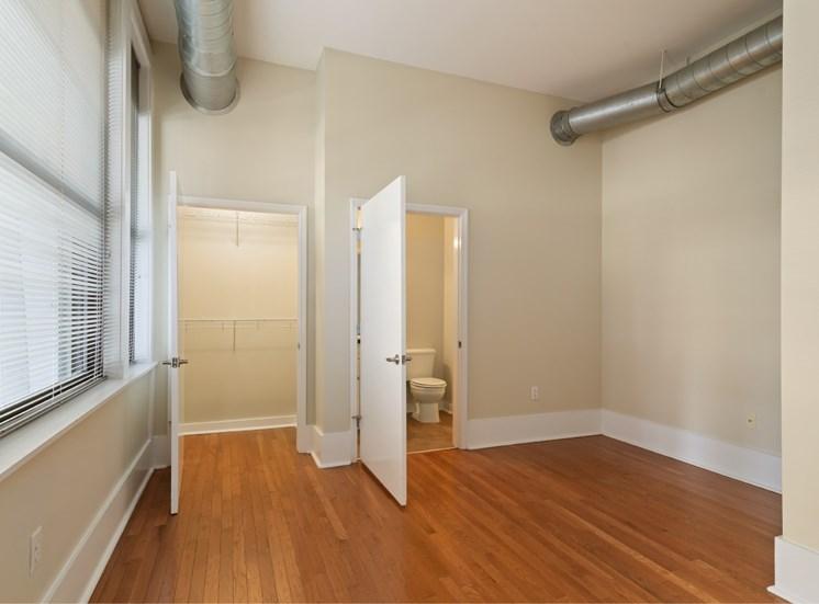 bathroom and closet interior
