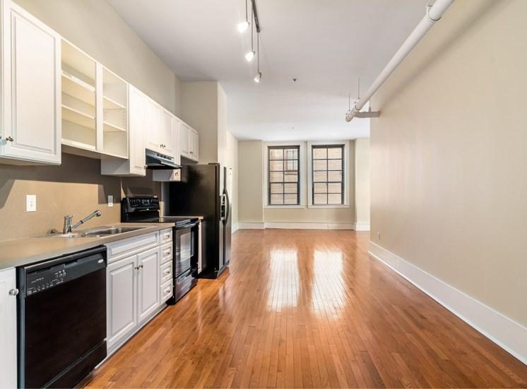 open kitchen interior