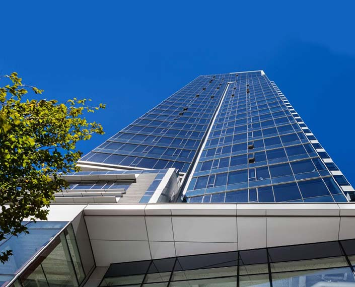 TMT Development's 30-story Park Avenue West tower is located in the Central Business District in downtown Portland, Oregon.