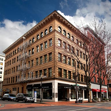 TMT Development's Eaton Building in downtown Portland, Oregon, was built in 1904 and features multi-family residential living and a small commercial space.