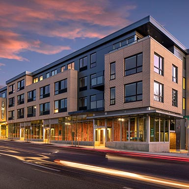 TMT Development's newest project, The Marilyn, offers upscale commercial and residential in the Hawthorne District in Portland, Oregon.