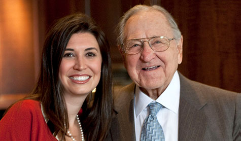 TMT Development CEO Vanessa Sturgeon and her grandfather, TMT founder Thomas P. Moyer.