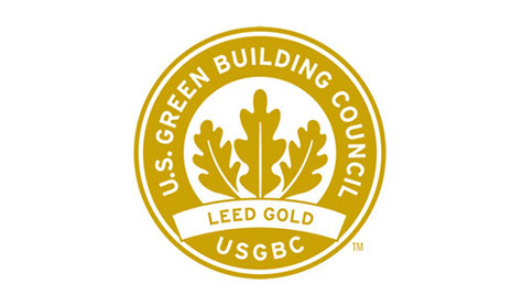 U.S. Green Building Council LEED Gold Certification insignia.