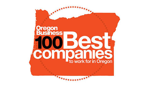 Oregon Business magazine Top 100 Employers insignia.