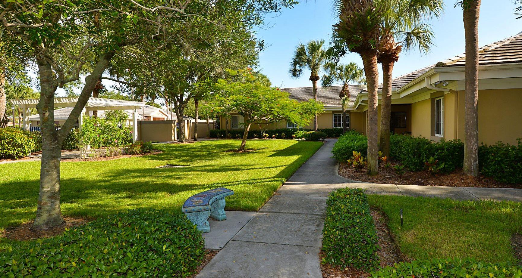 A serene courtyard in Gulf Coast Florida.