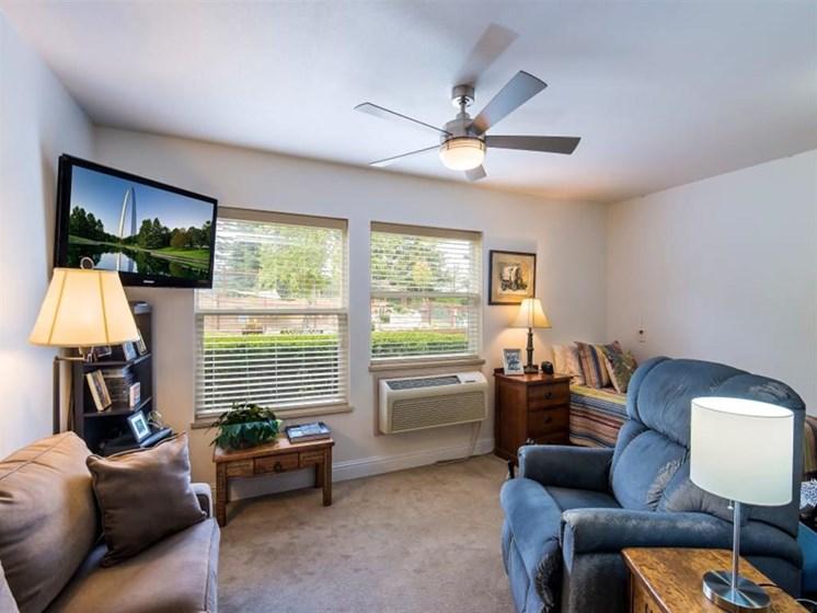 Studio Apartment at Healdsburg, A Pacifica Senior Living Community, Healdsburg, CA