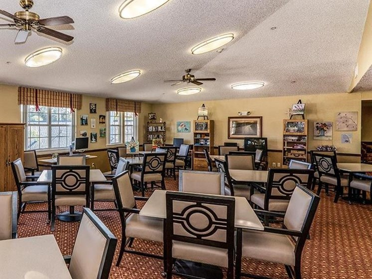 Dining Hall at Sun City Senior Living, Florida, 33572