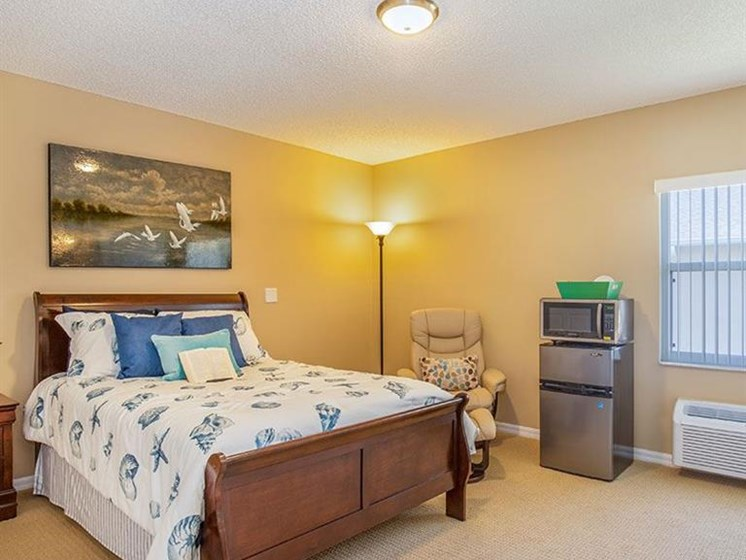 Large Master Bedroom at Sun City Senior Living, Florida