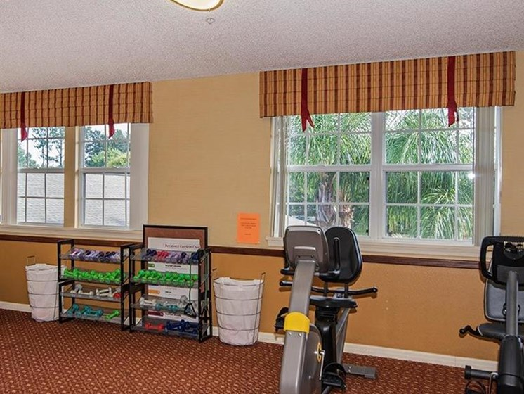 Cardio Machines In Gym at Sun City Senior Living, Ruskin, 33572
