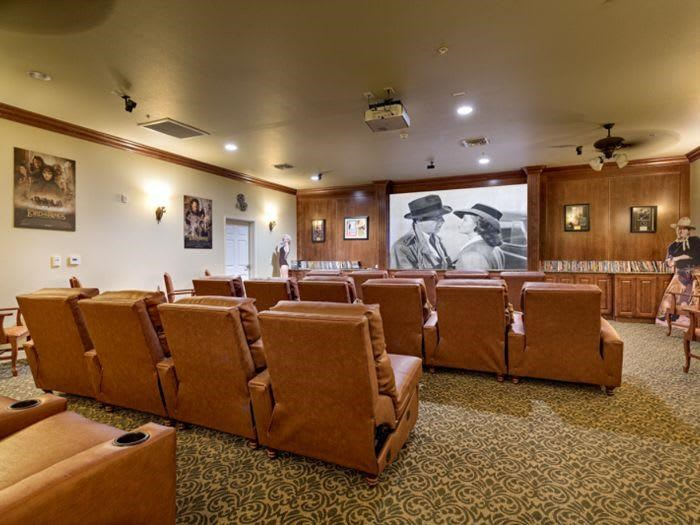 Catch a movie in our cinema room at Pacifica Senior Living San Martin in Las Vegas, NV