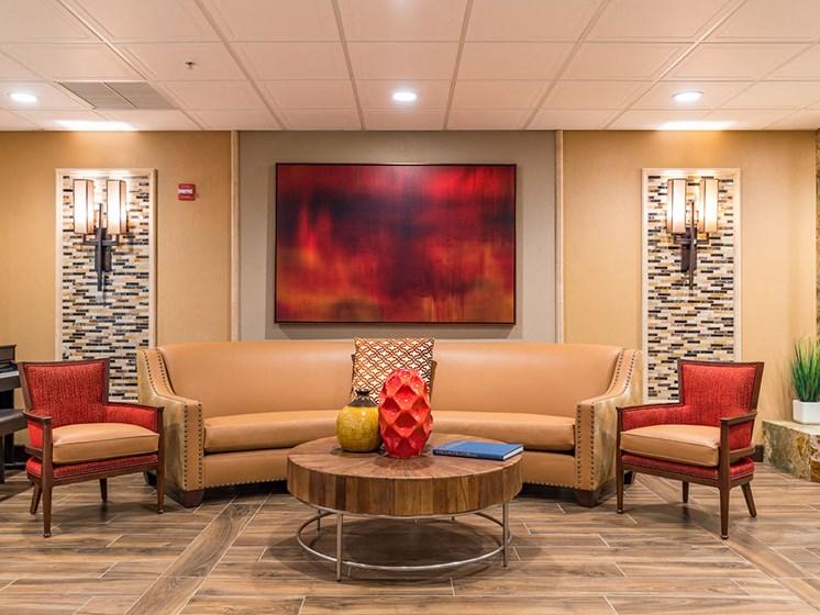 Palatial Reception Area at Healdsburg, A Pacifica Senior Living Community, Healdsburg, CA, 95448