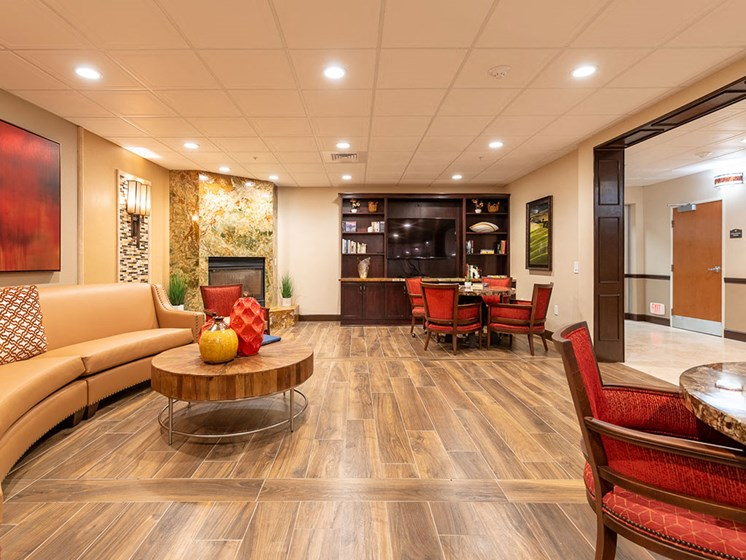 Spacious Reception Area at Healdsburg, A Pacifica Senior Living Community, Healdsburg, CA