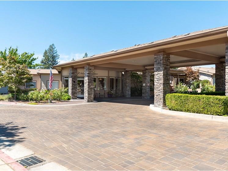 Controlled Access Entry at Healdsburg, A Pacifica Senior Living Community, Healdsburg, CA, 95448