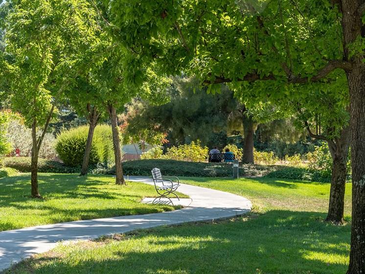 Green Space Walking Trails at Healdsburg, A Pacifica Senior Living Community, Healdsburg, California
