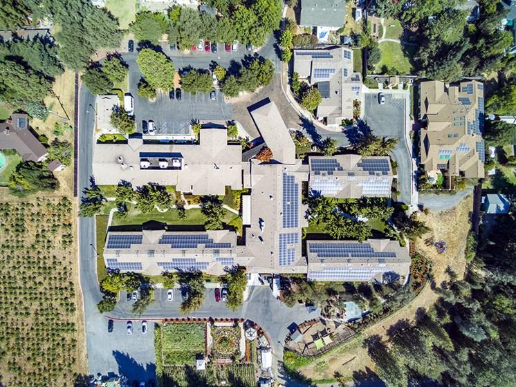Top View Of Community at Healdsburg, A Pacifica Senior Living Community, Healdsburg