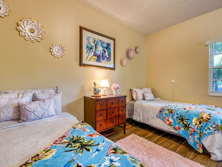Rest easy in our comfortable bedrooms at Pacifica Sunrise.