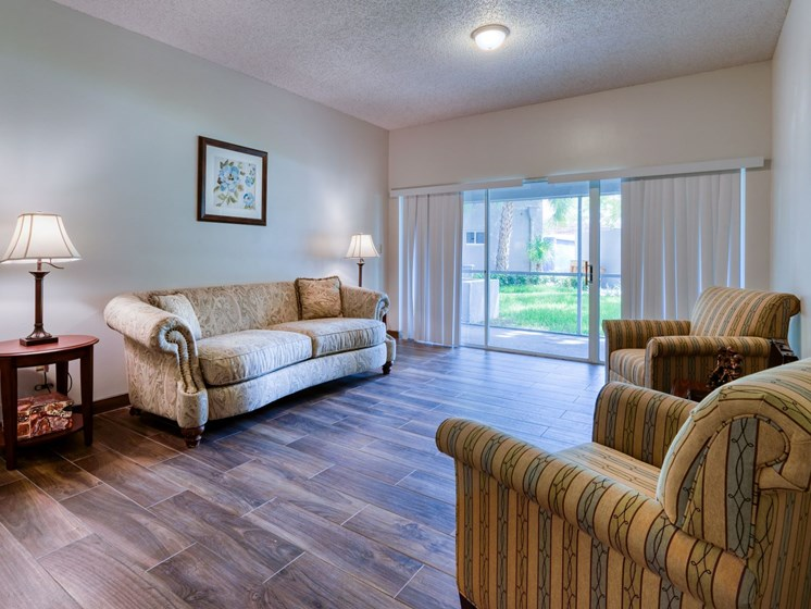 Relax in style at Pacifica Senior Living Sunrise.