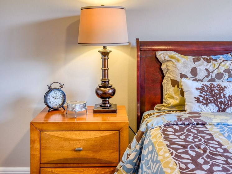 One of our luxurious bedrooms at Pacifica Senior Living Sunrise