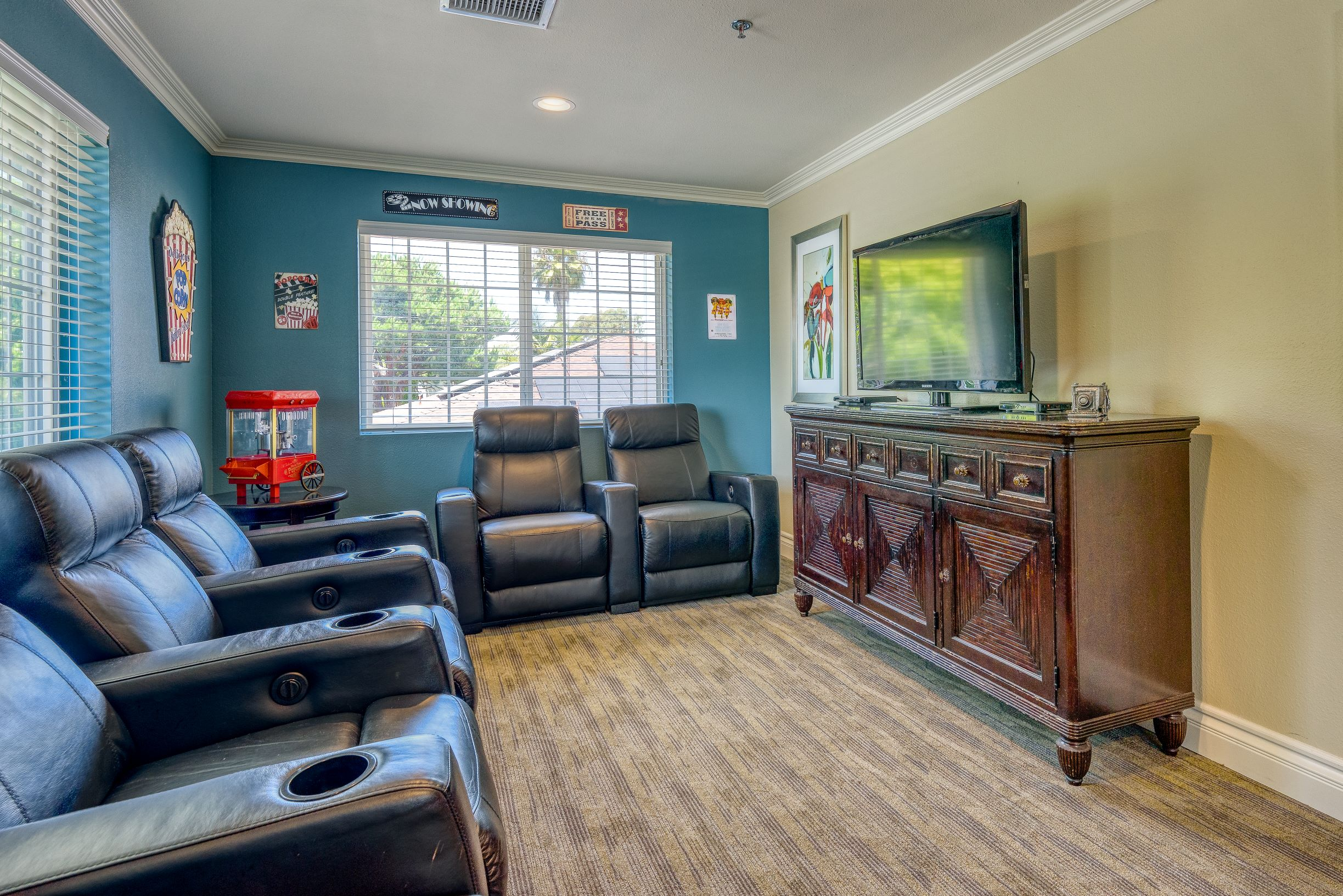 Watch old favorites and new classics at Pacifica Senior Living South Coast.