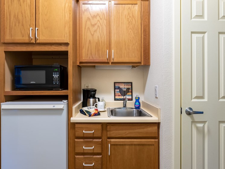 One of our apartment kitchenettes at Pacifica Union City