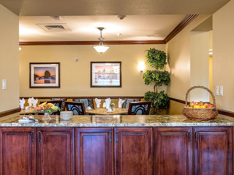 Classic Dining Area at Pacifica Senior Living Union City, Union City, CA, 94587