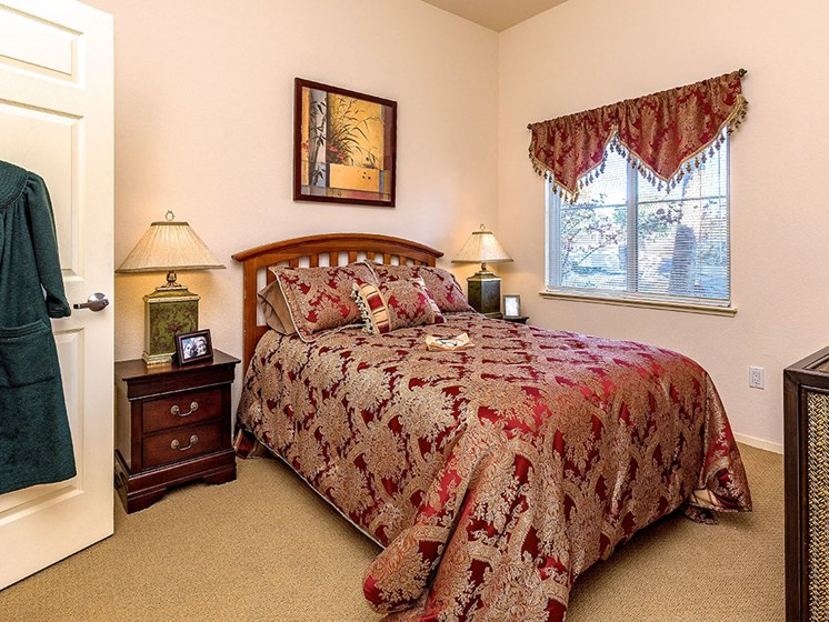 Large Master Bedroom at Pacifica Senior Living Union City, California