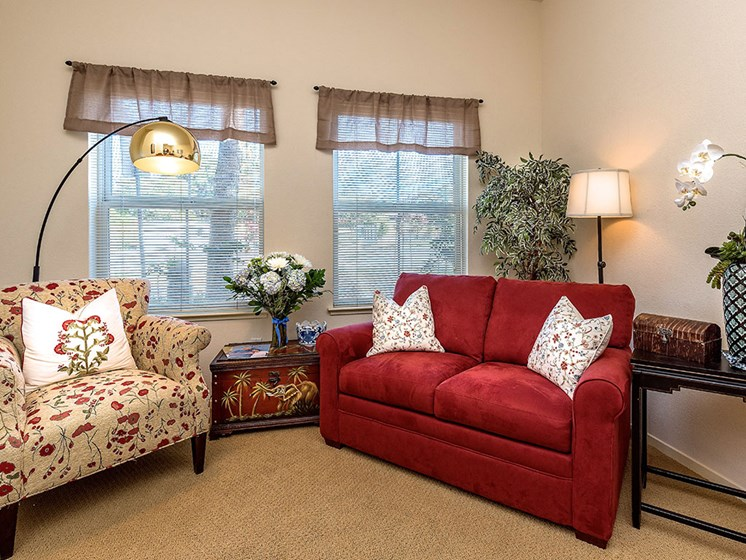 Modern Living Room at Pacifica Senior Living Union City, Union City, 94587