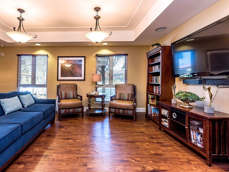 Modern Living Room at Pacifica Senior Living Union City, California, 94587
