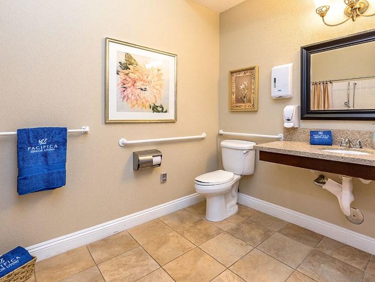Spacious Bathrooms at Pacifica Senior Living Union City, Union City, CA, 94587