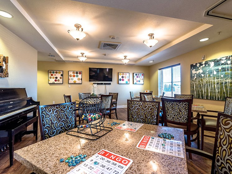 Bright living and dining space at Pacifica Senior Living Union City, Union City, 94587