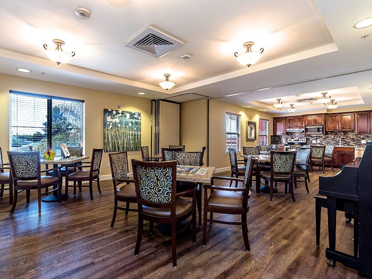 Carpeted Lounge Area at Pacifica Senior Living Union City, California