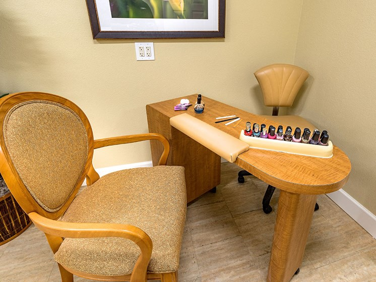 Nail-polish with Comfortable Sofa at Pacifica Senior Living Union City, Union City, California