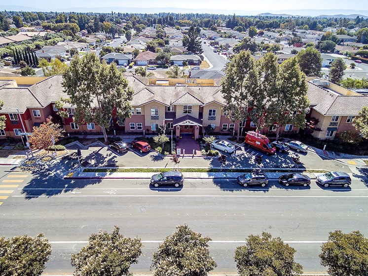 Drone View Of The Property at Pacifica Senior Living Union City, California
