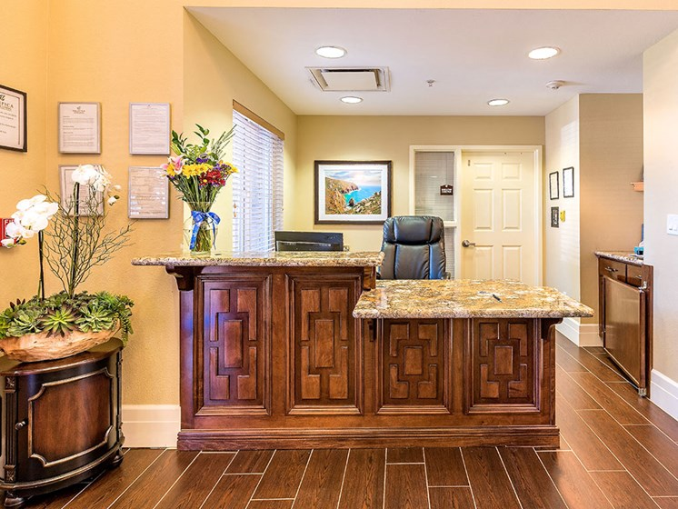 Welcome Lounge Area at Pacifica Senior Living Union City, Union City, CA, 94587
