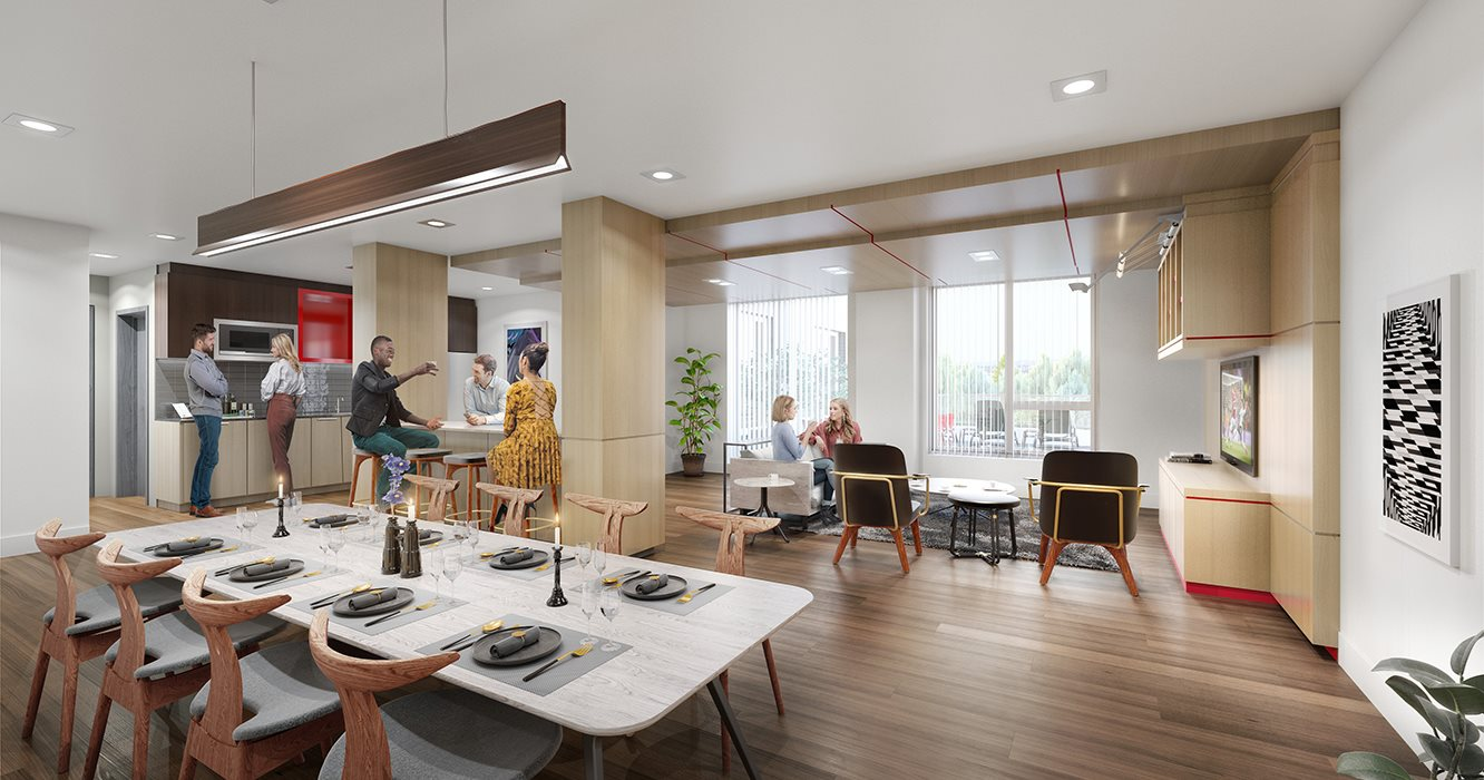 Building Amenities-Demonstration Kitchen and Dining Room