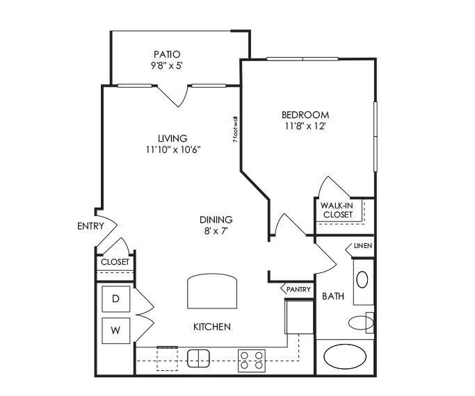 Dwell at McEwen - Franklin, TN - A1 Floor Plan