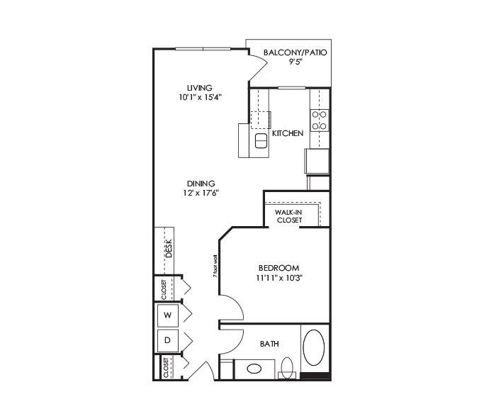 Dwell at McEwen - Franklin, TN - A4 Floor Plan