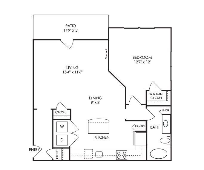 Dwell at McEwen - Franklin, TN - A8 Floor Plan