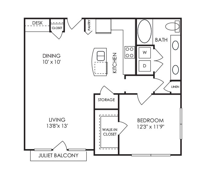 Dwell at McEwen - Franklin, TN - A9 Floor Plan