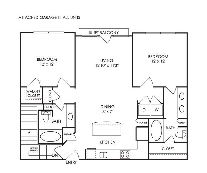 Dwell at McEwen - Franklin, TN Apartments - B4 Floor Plan