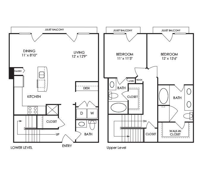 Dwell at McEwen - Franklin, TN - B12 Floor Plan