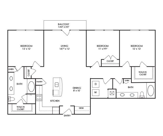 Dwell at McEwen - Franklin, TN - C1 Floor Plan
